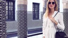 La blogueuse mode ultra influente Chiara Ferragni en vacances à Marrakech