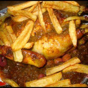 Poulet mhamer et frites