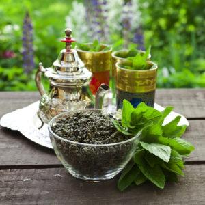 Un thé à la menthe