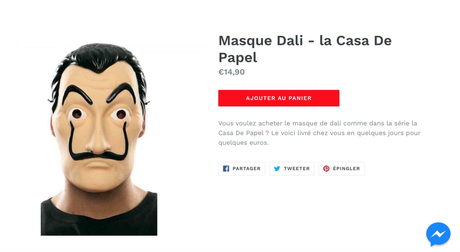 super pas cher Style magnifique bas prix Vous pouvez désormais vous procurer un masque 'Casa de Papel ...