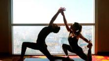 Au prix de 200 Dhs/personne, bénéficiez d'une séance yoga à deux au sommet du Kenzi Tower Hotel