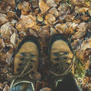 Des chaussures de randonnée