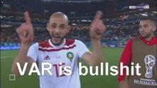 #VAR_is_bullshit : Le cri de colère de Nordin Amrabat après le match contre l'Espagne