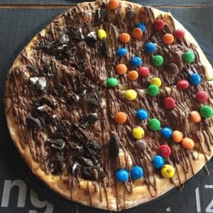Pizza Nutella M&M\'s... why not?