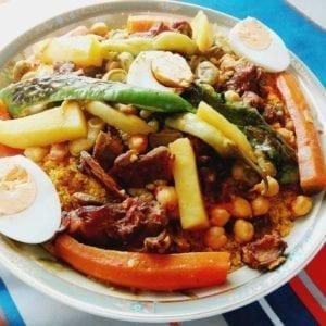 Couscous aux légumes et au guedid