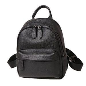 Le sac en cuir noir