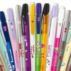 Les stylos avec des dessins