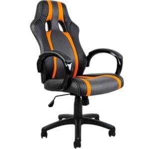 La chaise avec des touches orangées
