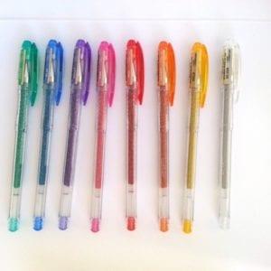 Les stylos pailletés