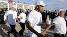 Les serveurs à l'honneur dans une course à Tanger