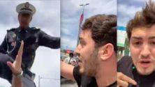 Amine Radi se fait frapper par un policier en plein live à Casablanca