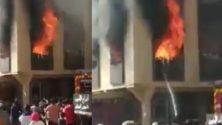 Une petite fillette se fait brûler sous les regards des habitants de Khémisset