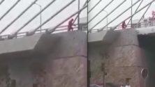 Vidéo: Un homme essaye de voler des câbles du pont à haubans de Sidi Maarouf…