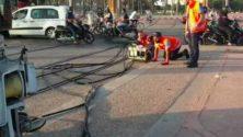 Vidéo: Un automobiliste percute le tramway à Ain Sebaâ et provoque son déraillement