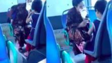 Vidéo: Elle fait sniffer une substance à un enfant dans un Bus à Casablanca
