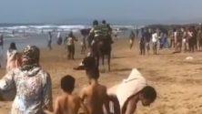 Et pendant ce temps : Les marocains inondent la plage à Essaouira en plein confinement