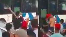 Vidéo : Des marocains saccagent un bus en provenance d'Agadir