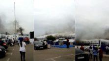 Vidéo : L'hypermarché Marjane Hay Riad à Rabat prend feu