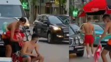 Vidéo : Ils se bronzent en pleine rue à Tanger avec leurs masques