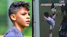 Vidéo : Cristiano Jr, un prodige du foot sur les pas de son père