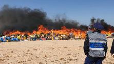 À Dakhla, 153 millions de dirhams de cannabis et d'autres produits illicites sont partis en fumée