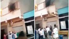Vidéo : À Nador, une famille échappe à un incendie grâce à la solidarité des voisins